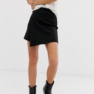 Free people knitted wrap skirt